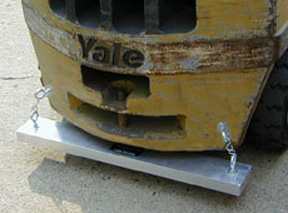 Magnetic Sweeper Mounted on a Forklift